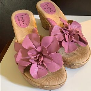 Born Concept leather upper wedges